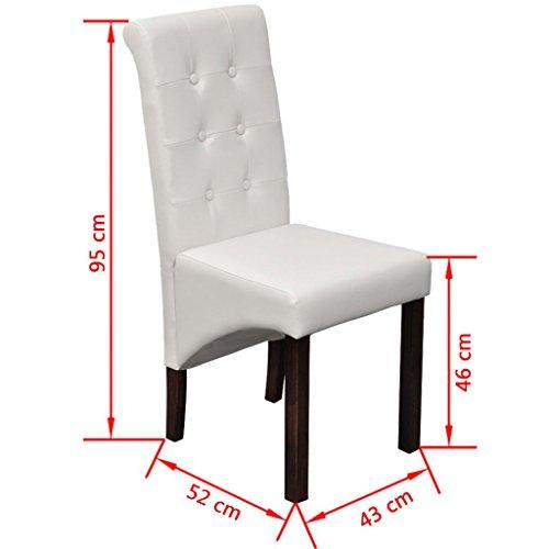 6 Stühle Stuhlgruppe Hochlehner Esszimmerstühle Essgruppe Sitzgruppe weiß NEU 2