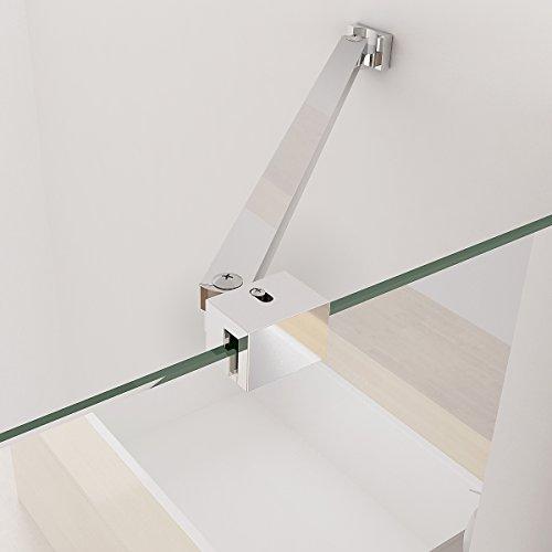 90 x 90 x 195 cm Duschkabine Runddusche Duschabtrennung Falttür Echtglas Viertelkreis NANO
