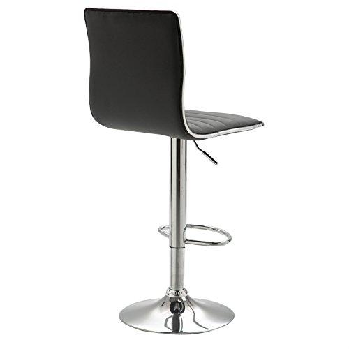 Barhocker Barstuhl Loungehocker Tresenstuhl Tresenhocker Hocker Stuhl ROCA im 2er Pack Kunstleder grau drehbar mit Lehne