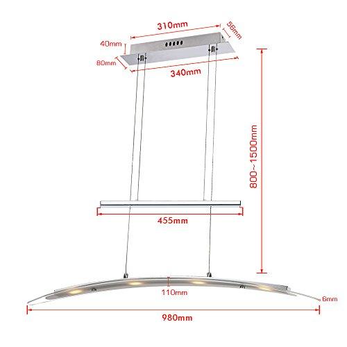 vingo modern led pendelleuchte h henverstellbar 230v h ngelampe deckenleuchte esszimmer. Black Bedroom Furniture Sets. Home Design Ideas
