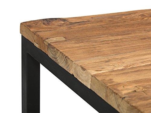 Massivum 10022591 Couchtisch Manchu Teak, Holz, natur, 85 x 85 x 35 cm