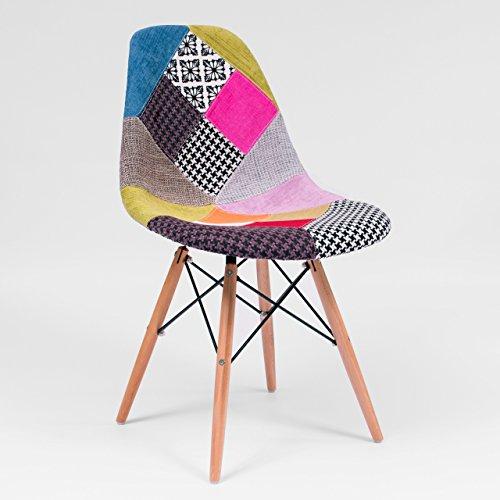 Esszimmerstuhl Max, Inspiration Stuhl Tower Patchwork von Eames