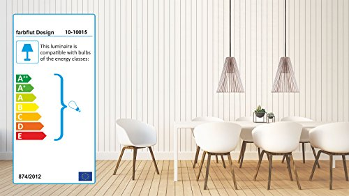 Pendelleuchte aus Holz - Moderne Designer Deckenleuchte - viele Farben erhältlich Weiss