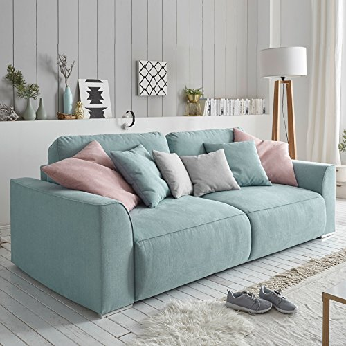modernes design big sofa weekend aquamarin schlaffunktion. Black Bedroom Furniture Sets. Home Design Ideas