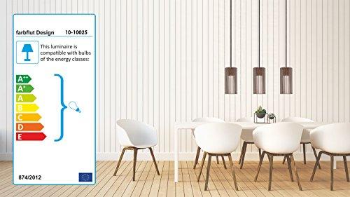 Pendelleuchte CILINDRO aus Holz - Moderne Designer Deckenleuchte - viele Farben erhältlich Natur