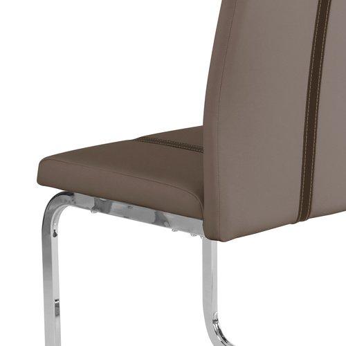 cavadore schwingstuhl 4 er set enzo freischwinger ohne armlehne in modernem design. Black Bedroom Furniture Sets. Home Design Ideas