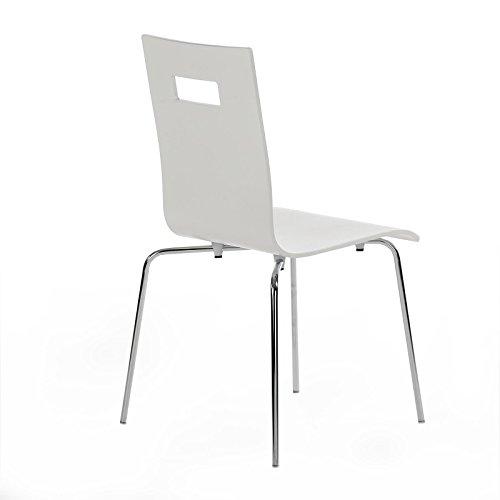 4-er Pack Stuhl Esszimmerstuhl Stapelstuhl IVANCA, weiß lackiert
