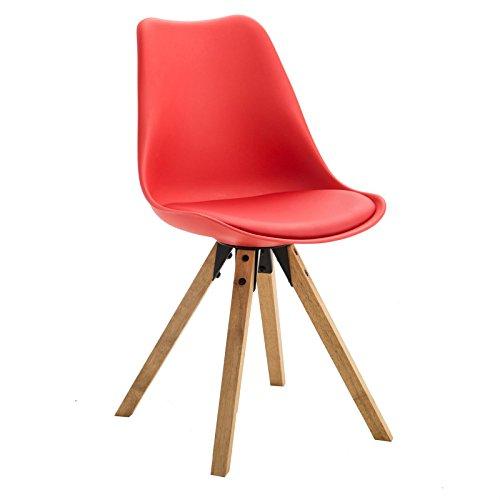 4er set esszimmerstuhl k chenstuhl stuhlgruppe essstuhl stuhl tyson kunststoff rot m bel24. Black Bedroom Furniture Sets. Home Design Ideas