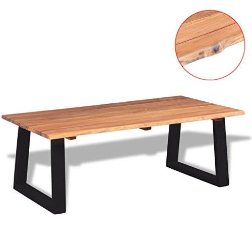 vidaXL Massivholz Couchtisch Beistelltisch Wohnzimmertisch Akazie 110x60x40 cm