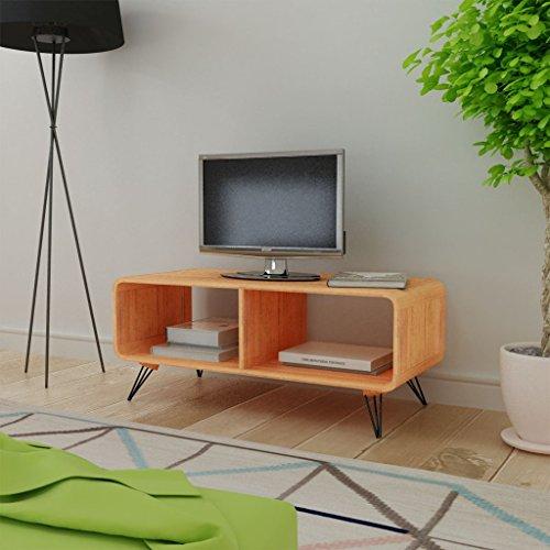 vidaXL TV-Schrank Fernsehtisch Holz TV Lowboard Fernsehschrank Wohnzimmertisch Braun