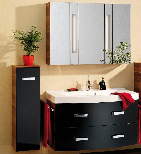 badm bel set arte 7 4tlg hochglanz schwarz zwetschge dekor m bel24. Black Bedroom Furniture Sets. Home Design Ideas