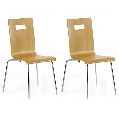 4-er Pack Stuhl Esszimmerstuhl Stapelstuhl IVANCA, natur lackiert