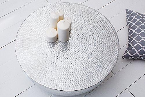 Couchtisch orient ii 70cm aluminium silber hammerschlag for Wohnzimmertisch orientalisch