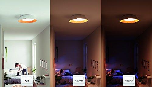 Philips InStyle LED Deckenleuchte Nonagon, weiß/Holz