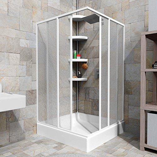tectake duschkabine duschabtrennung eckeinstieg rostfreier aluminiumrahmen 2 schiebet ren. Black Bedroom Furniture Sets. Home Design Ideas