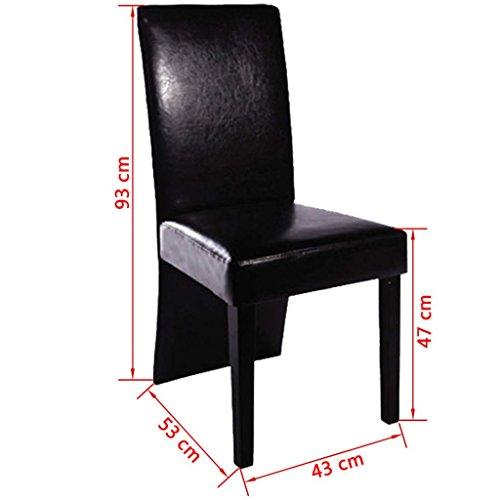 6 Stühle Hochlehner Stuhlgruppe Esszimmerstühle Essgruppe Sitzgruppe schwarz NEU
