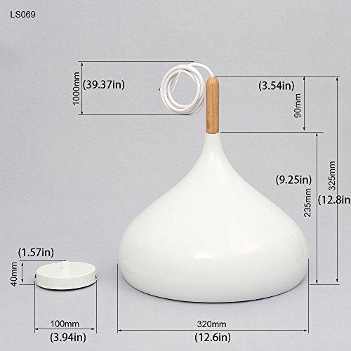 Moderne Pendelleuchte Hängeleuchte Anhänger E27 Fassung LED Deckenleuchte Beleuchtung Heimspiel für Dinning Wohnzimmer Schlafzimmer (Weiß)