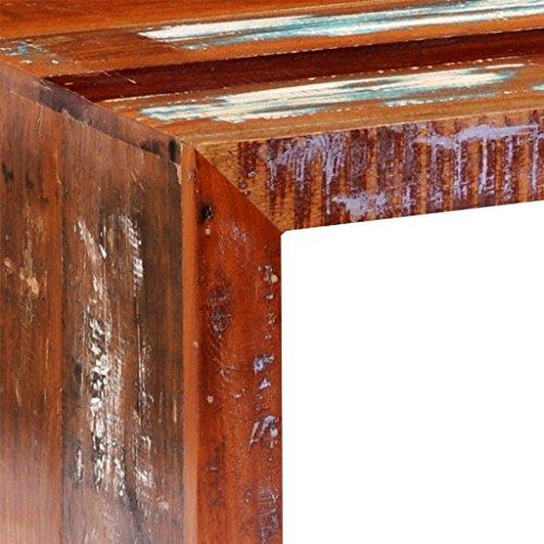 vidaXL Couchtisch Beistelltisch Wohnzimmertisch Sheesham Teak Truhe Vintage Massivholz