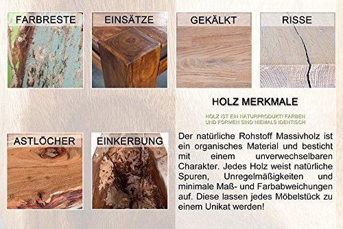 Invicta Interior Madeira Massives 3er-Set Beistelltische Sheesham stone finish