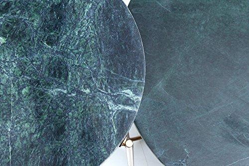 Exklusiver Couchtisch NOBLE aus hochwertig verarbeitetem grünem Marmor Wohnzimmertisch