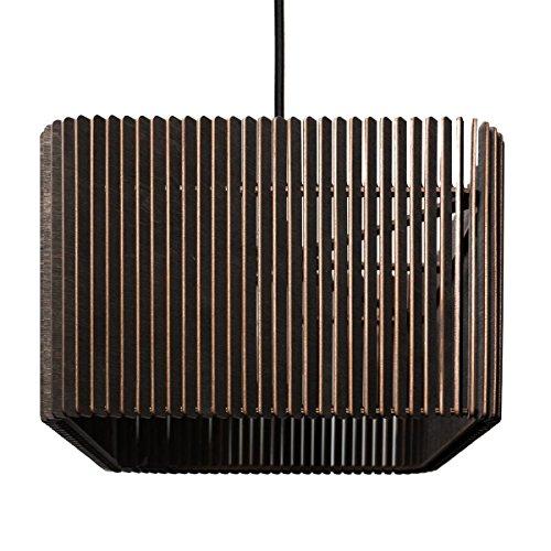 Hängeleuchte CAJA - Pendelleuchte aus Holz - Moderne Designer Hängeleuchte - viele Farben / zwei Größen erhältlich - COGNAC