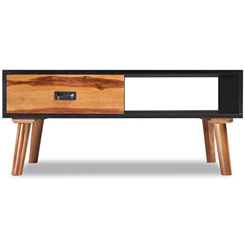 vidaXL Akazie Massivholz Couchtisch Beistelltisch Tisch Wohnzimmer Sofatisch
