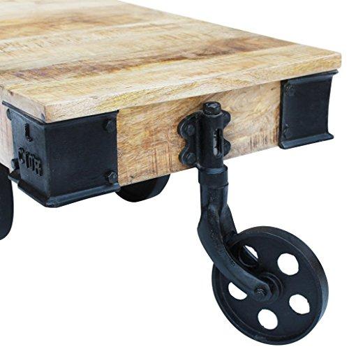 vidaXL Couchtisch Beistelltisch Wohnzimmertisch Industrie Design Massivholz Antik Retro