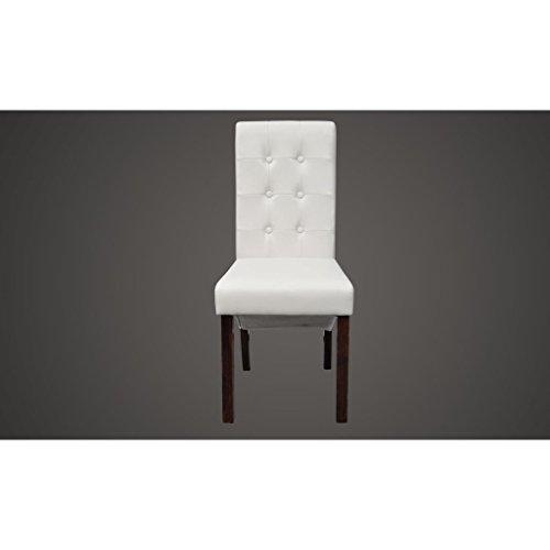 4 Stühle Stuhlgruppe Hochlehner Esszimmerstühle Essgruppe Sitzgruppe weiß NEU 2