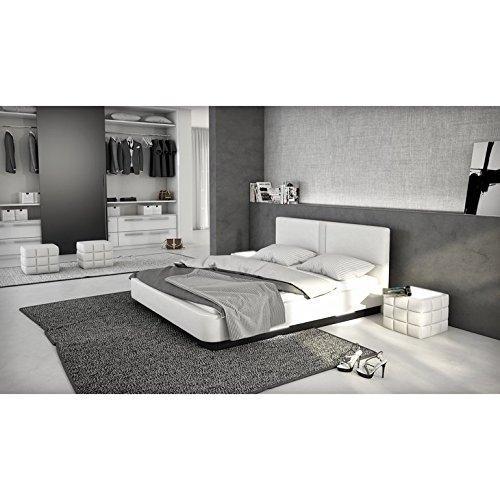 innocent polsterbett aus kunstleder wei 180x200cm mit led und lautsprecher zarina boxspringbett. Black Bedroom Furniture Sets. Home Design Ideas