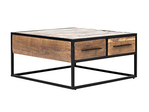 Massivum Oklahoma Couchtisch 80 x 80 Akazie Hell, Holz, Natur, 80 x 80 x 40 cm