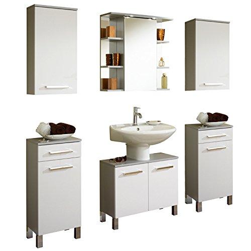 badezimmer set hochglanz wei badmbel waschplatz spiegelschrank badezimmermbel m bel24. Black Bedroom Furniture Sets. Home Design Ideas