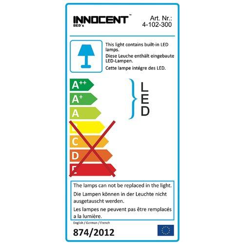 Innocent Polsterbett Look weiß mit LED-Beleuchtung B 180 x L 200 x H 70 cm