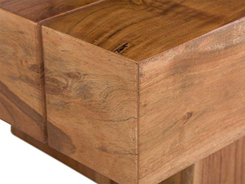 Massivum Sagar Couchtisch, Holz / akazie, natur, 45 x 115 x 30 cm