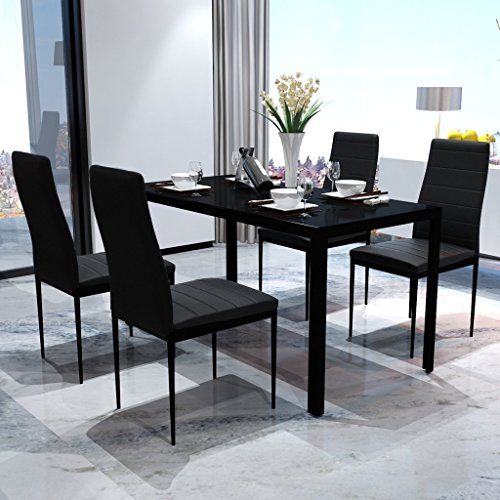 vidaxl 5tlg esstisch sitzgruppe essgruppe esszimmer. Black Bedroom Furniture Sets. Home Design Ideas