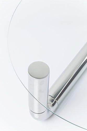 Kare Pipeline Chrom Durchmesser 90cm Couchtisch, Andere, Silber, 80 x 80 x 35 cm