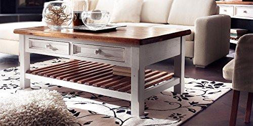 couchtisch holz massiv mit schublade bodde alt wei massivholz shabby chic wohnzimmertisch. Black Bedroom Furniture Sets. Home Design Ideas