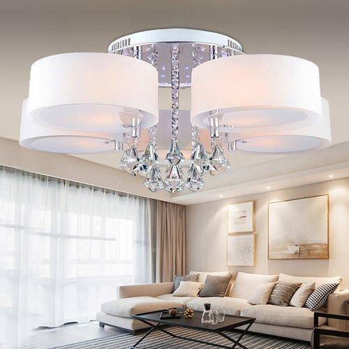 vingo modern 5fl led deckenleuchte acryl pendelleuchte. Black Bedroom Furniture Sets. Home Design Ideas