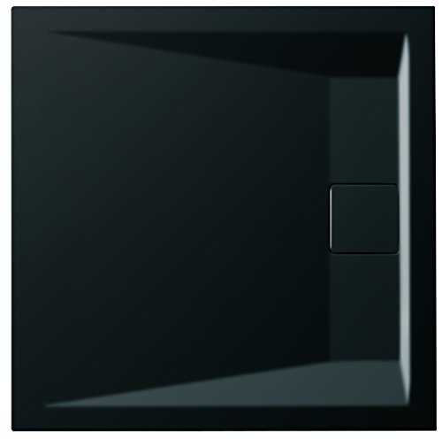 carea Spülbecken Duschtasse extra flach 90x 140x 4cm, schwarz
