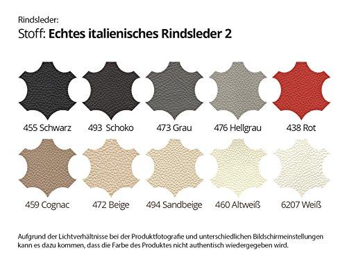 Wohnlandschaft XXL Leder schwarz Elsa Farbwahl Teilleder (Ausrichtung Normal)