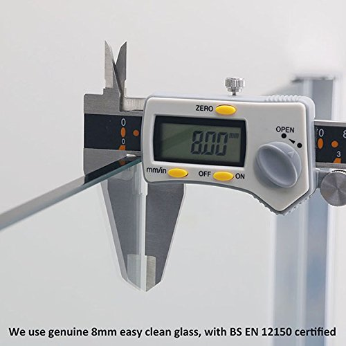 80x195cm+120x195cm Walk In Duschabtrennung Duschwand Duschkabine Duschtür aus ESG Sicherheitsglas mit Nanobeschichtung