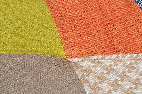 1 x Design Patchwork Sessel Wohnzimmer Küchen Stuhl Esszimmer Sitz Holz Stoff Flicken Bunt