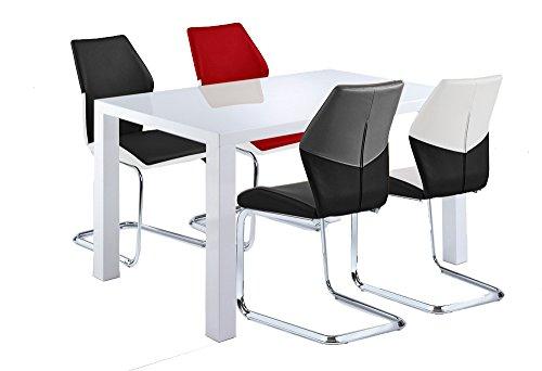 cavadore schwingstuhl snap freischwinger ohne armlehne in modernem design lederimitat 4. Black Bedroom Furniture Sets. Home Design Ideas