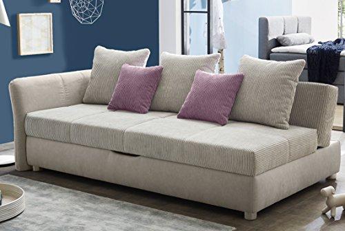 avanti trendstore jovani sofa mit schlaffunktion und integriertem bettkasten aus mikrofaser. Black Bedroom Furniture Sets. Home Design Ideas