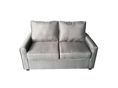 AVANTI TRENDSTORE - Millenium - Sofa in Mikrofaser mit Schlaffunktion in anthrazit, Matratze inklusive, ca. 138x92x72 cm