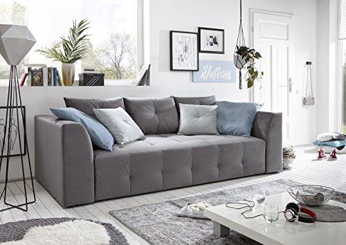 avanti trendstore rudi sofa mit schlaffunktion und integriertem bettkasten in mikrofaser. Black Bedroom Furniture Sets. Home Design Ideas