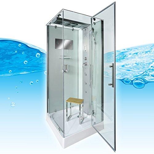 AcquaVapore DTP6038-0002R Dusche Dampfdusche Duschtempel Duschkabine 80x80