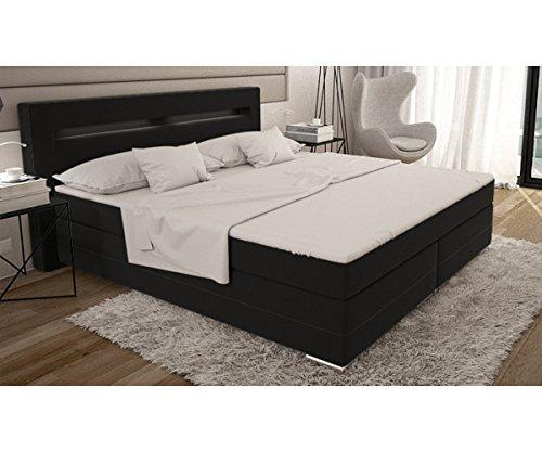 bett livana schwarz 180x200 cm kingsize matratze boxspringbett m bel24. Black Bedroom Furniture Sets. Home Design Ideas
