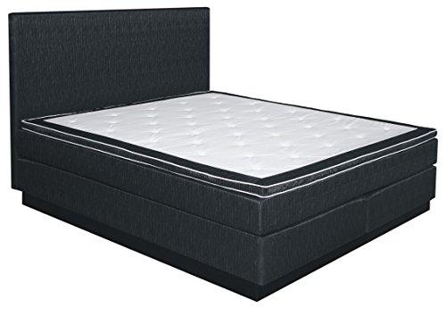 Boxspringbett NAURU, Box: Bonell - Federkern, Matratze: Taschen - Federkern, Top Matress: Schaumstoff - Abmessung: 120 x 200 cm