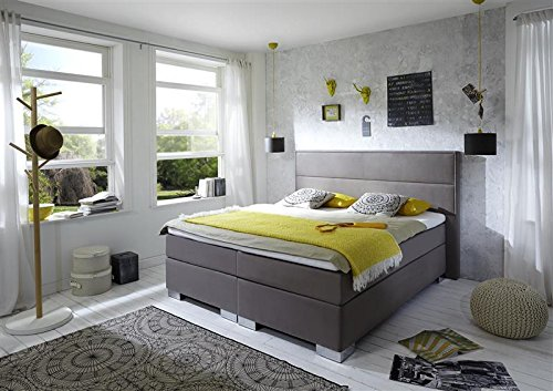 Breckle Boxspringbett 160 x 200 cm Castillo Box Mero Easy Big Bonnell Topper Gel Standard