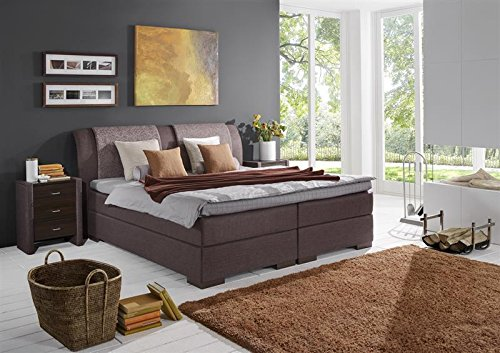 Breckle Boxspringbett 160 x 200 cm Lund Box Mero Easy Big Bonnell Topper Gel Standard